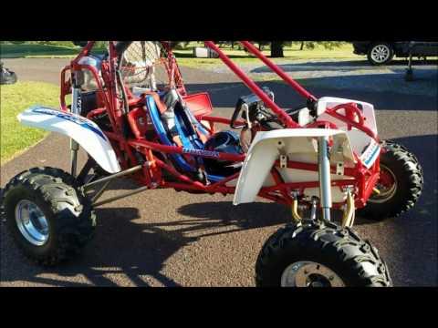 FL350 Honda Odyssey Custom Long Travel Front Suspension, Finally: The Ride!