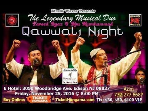 Qawwali Song, indo-pak subcontinental qawwali by ustad fareed ayaz Urdu sufi song