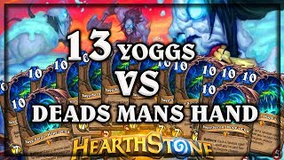 13 Yoggs VS Dead Mans Hand ~ Kobolds & Catacombs ~ Hearthstone Heroes of Warcraft WOWHOBBS