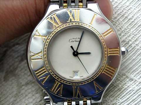 Must De Cartier 21 18k Gold Amp Stainless Steel Quartz Mens