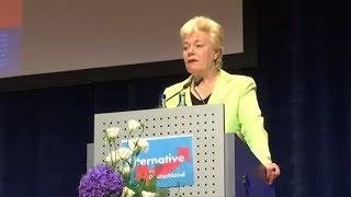 AFD EMPÖRT: Erika Steinbach weist Mitschuld an Lübckes Ermordung zurück