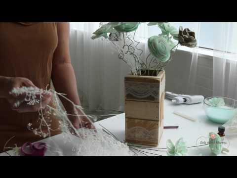 Sola Wood Flowers bouquet tutorial