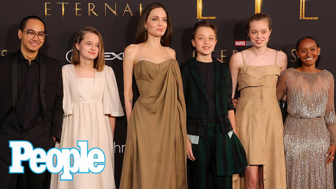 Angelina Jolie Brings Kids Maddox, Zahara, Shiloh, Vivienne and Knox to 'Eternals' Premiere | PEOPLE
