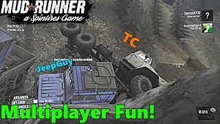 SpinTires Mud Runner: Xbox One, Multiplayer FUN! w/ TC and JeepGuy   ROCK CRAWLING GONE WRONG!