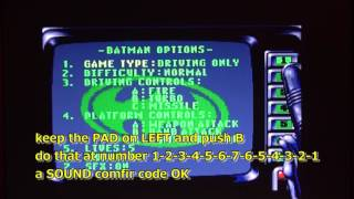 "Cheat Code BATMAN RETURNS MegaCD  ""Skip Level"" wadeshadow"