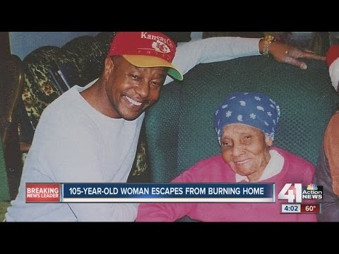 105-year-old woman escapes from burning home