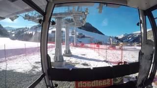 Shortest gondola in the world! -12er Express Saalbach Hinterglemm Leogang Fieberbrunn