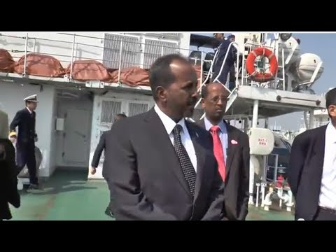 President of Somalia visits Yokohama and Hiroshima