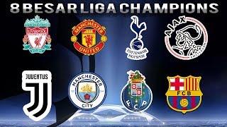 Daftar Tim yang Lolos ke Babak 8 Besar Liga Champions, Wakil Inggris Mendominasi
