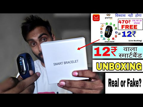 Aliexpress 12rs Band Smartband Delivered. Unboxing & Review