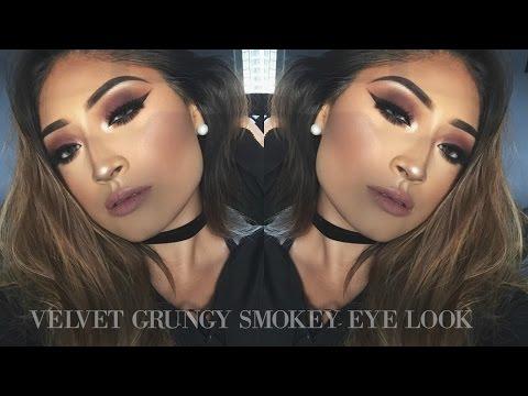 Velvet Grungy Smokey Eye Look | ViiRDii