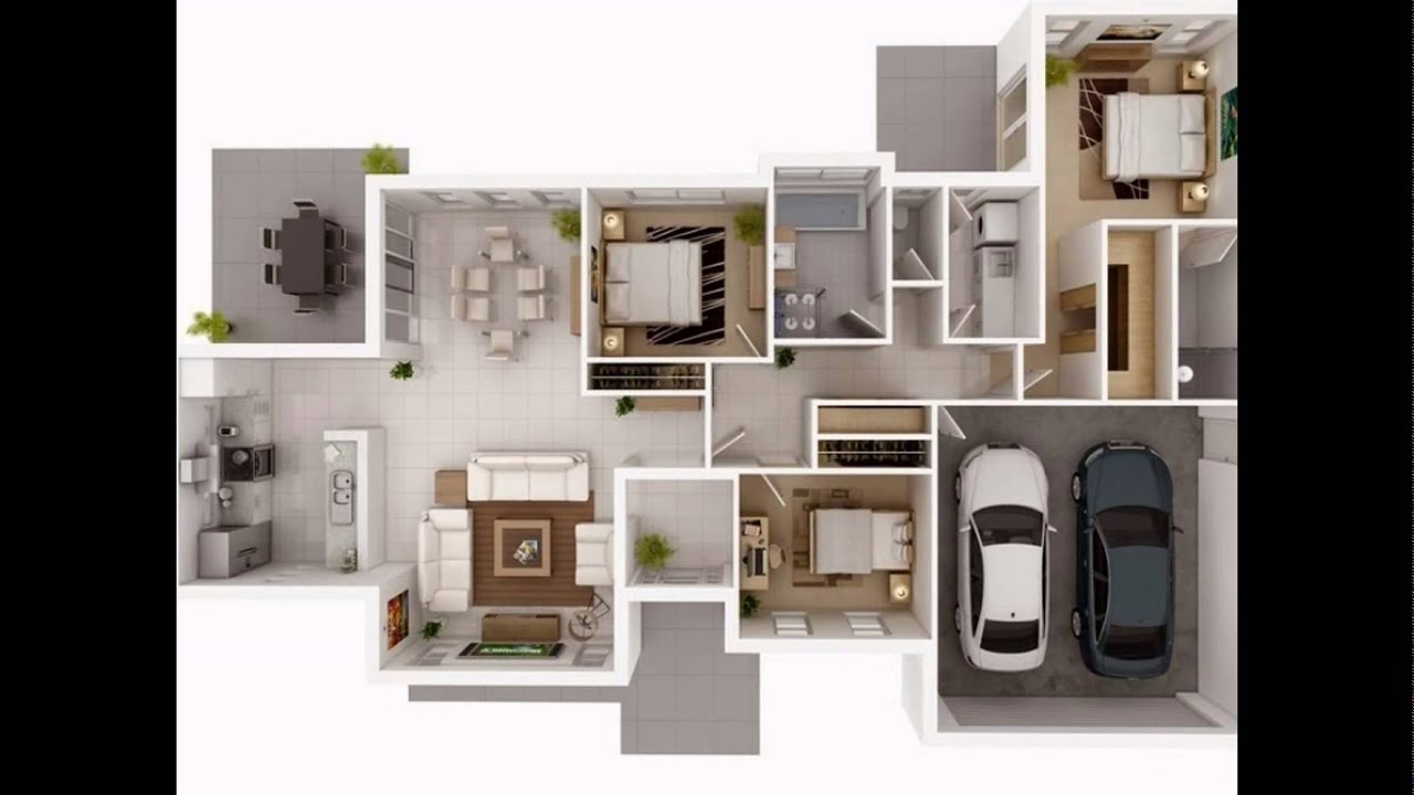 3Bedroom Apartment / House Floor Plan Slide - YouTube