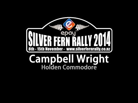 Campbell Wright - Holden Commodore - Silver Fern Rally 2014