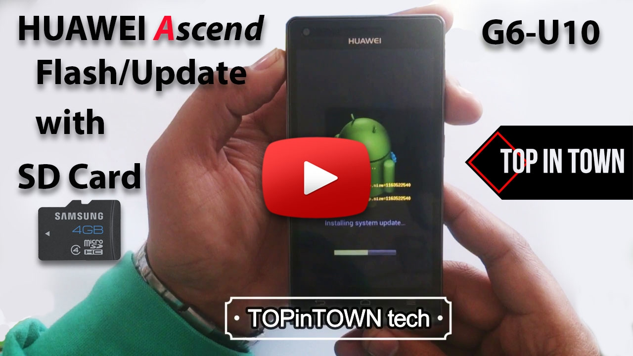 How To Flash Update Huawei Ascend G6 U10 With Sd Card 2017 Y520 4gb