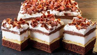 У этого пирожного есть секрет - оно вызывает зависимость! Внимание на прослойку безе. | Appetitno.TV
