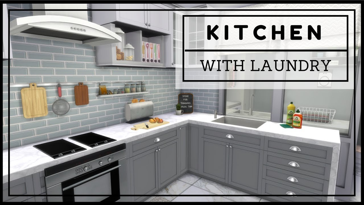 Sims 4 - Kitchen with Laundry (Download + CC Creators List ...