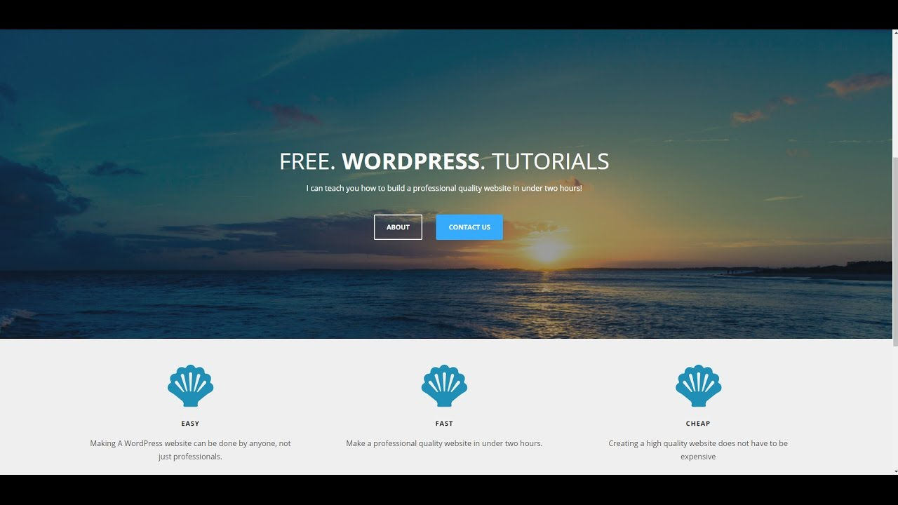 How to make a wordpress website theme