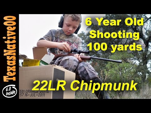 6 Year Old Shooting 100yrd Steel with the Chipmunk 22LR Rifle