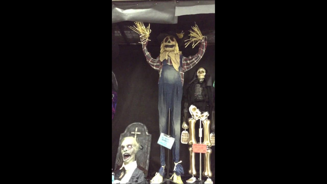 menards halloween 2014 sunstar gifts animated standing scarecrow - Menards Halloween Decorations