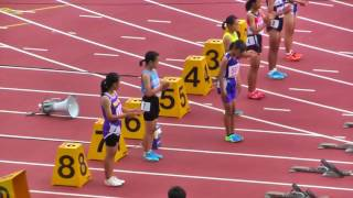 H29年度 学校総合 埼玉県大会 中学1年女子100m決勝 thumbnail