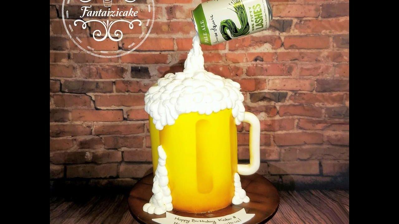 Gravity beer cake by Fantaizicake  YouTube