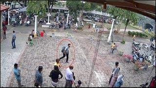 CCTV images show Sri Lanka's terrorist attack suspected suicide bomber