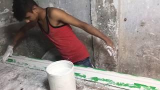 How To Work Gypsum Cornice Tiles Making, Use Original China Mold Gypsum Making, Cornice Installation