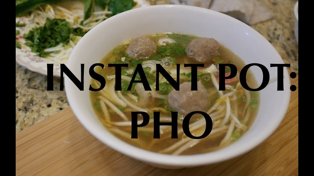 how to make beef pho in instant pot