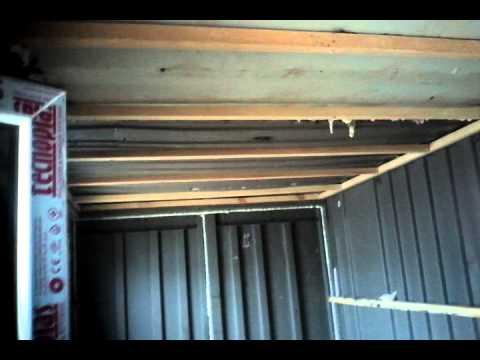 Обшивка контейнера для жилья день 1 часть 1