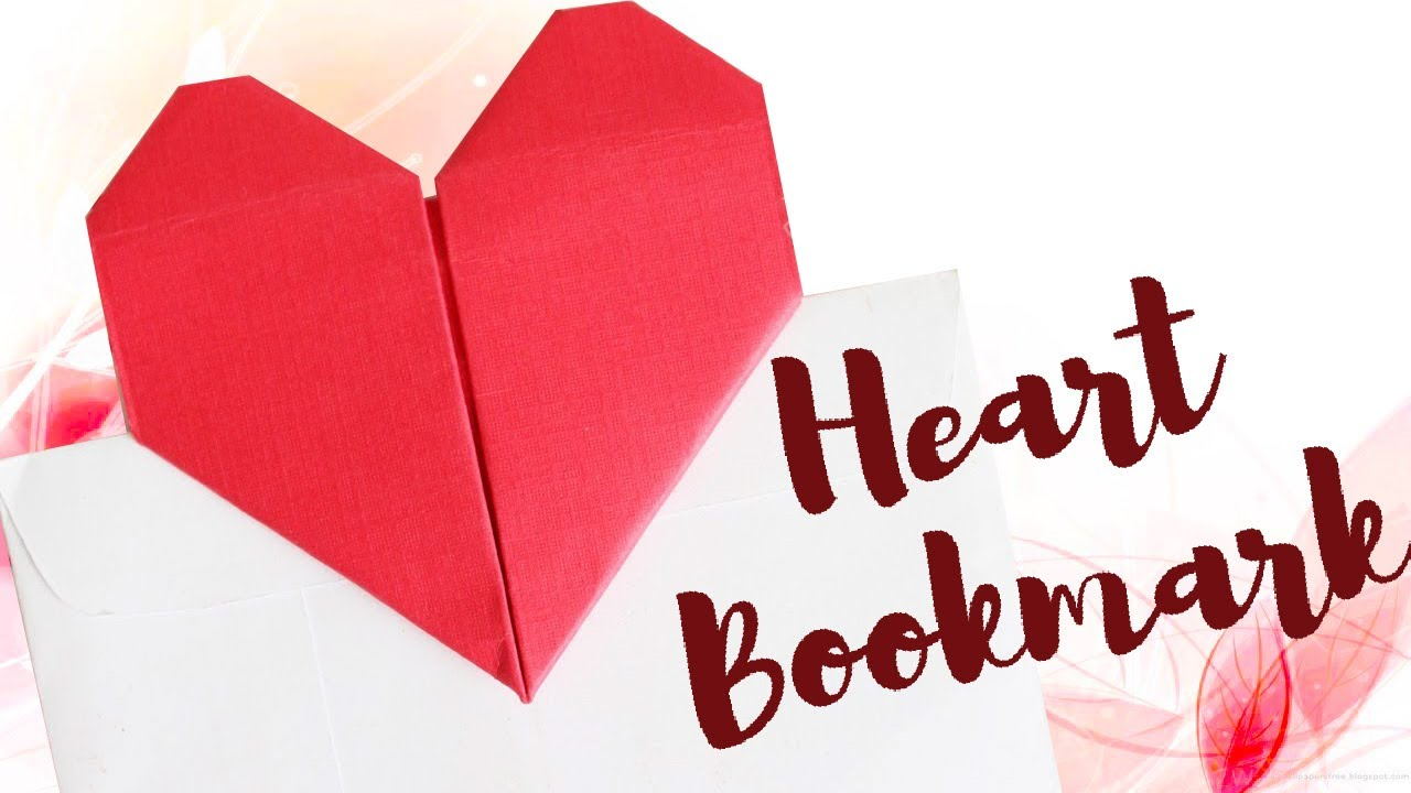Origami Heart Bookmark You Can Make in Minutes! - DIY Candy | 720x1280