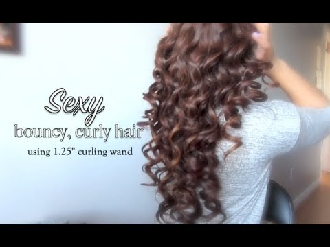Sexy Bouncy Curly Hair Tutorial Using Bellezza 4 In 1 Curling Wand