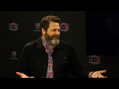 Nick Offerman has a huge crush on Sam Elliott