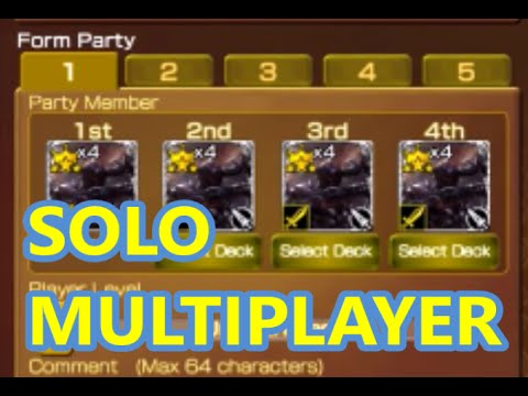 mobius final fantasy how to solo multiplayer select roles and