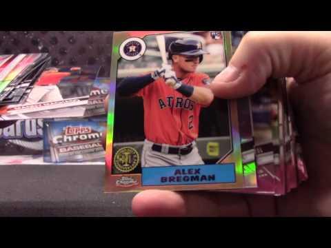 2017 Topps Chrome JUMBO Baseball 8 Box Case 'Random Teams' GB # 2