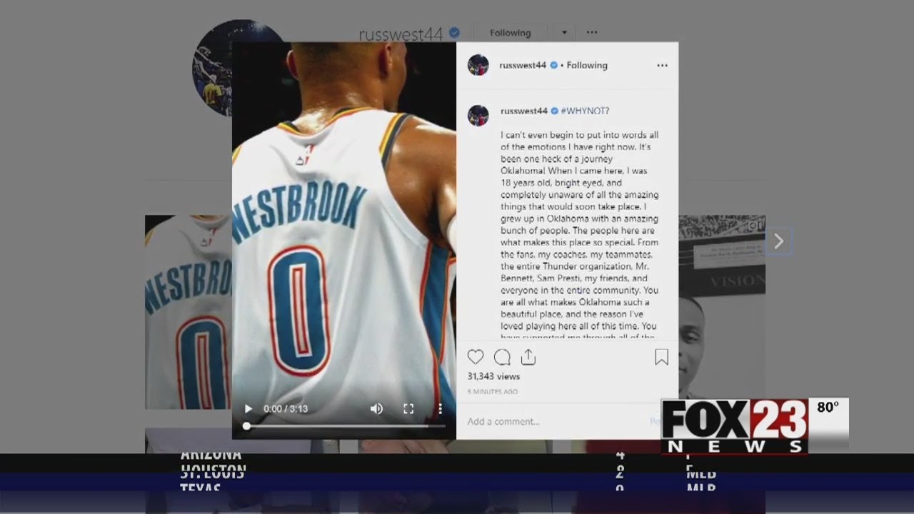 Russell Westbrook, Thunder pay respects in emotional return visit