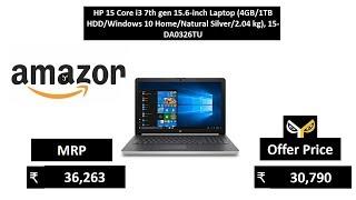 HP 15 Core i3 7th gen 15.6-inch Laptop (4GB1TB HDDWindows 10 HomeNatural Silver2.04 kg), 15-DA0326TU
