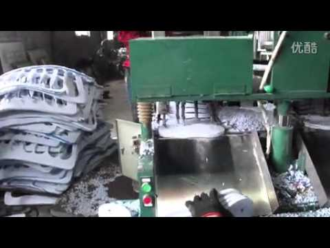 d8dfafb4207 EVA Slipper Soles Cutting Machine Production Line - YouTube