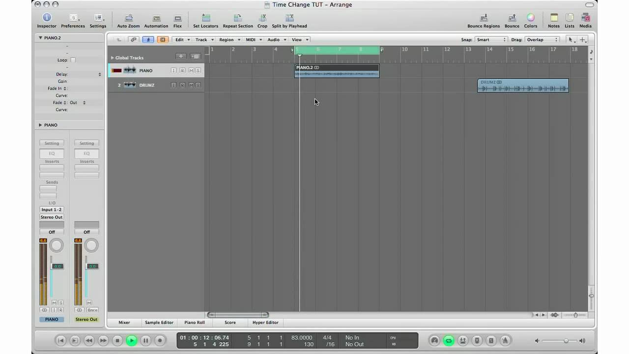 How To: Logic Pro Tutorial - Tempo Change Your Audio Files/Loops