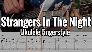 Strangers In The Night (Ukulele Fingerstyle) Tabs On Screen - Frank Sinatra
