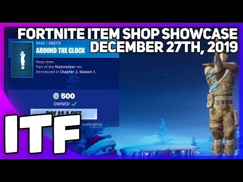Fortnite Item Shop *NEW* AROUND THE CLOCK EMOTE! [December 27th, 2019] (Fortnite Battle Royale)