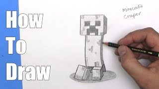 How To Draw a Minecraft Creeper - Step By Step