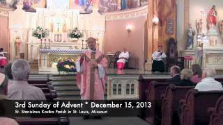 Homily on December 15, 2013 * 3rd Sunday of Advent