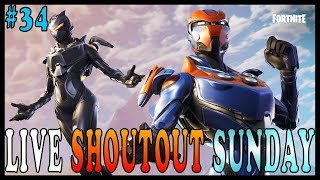 "NEW ""OBLIVION"" SKIN in FORTNITE - Live Shoutout Sunday #34 // PRO PLAYER // 220 SOLO WINS"