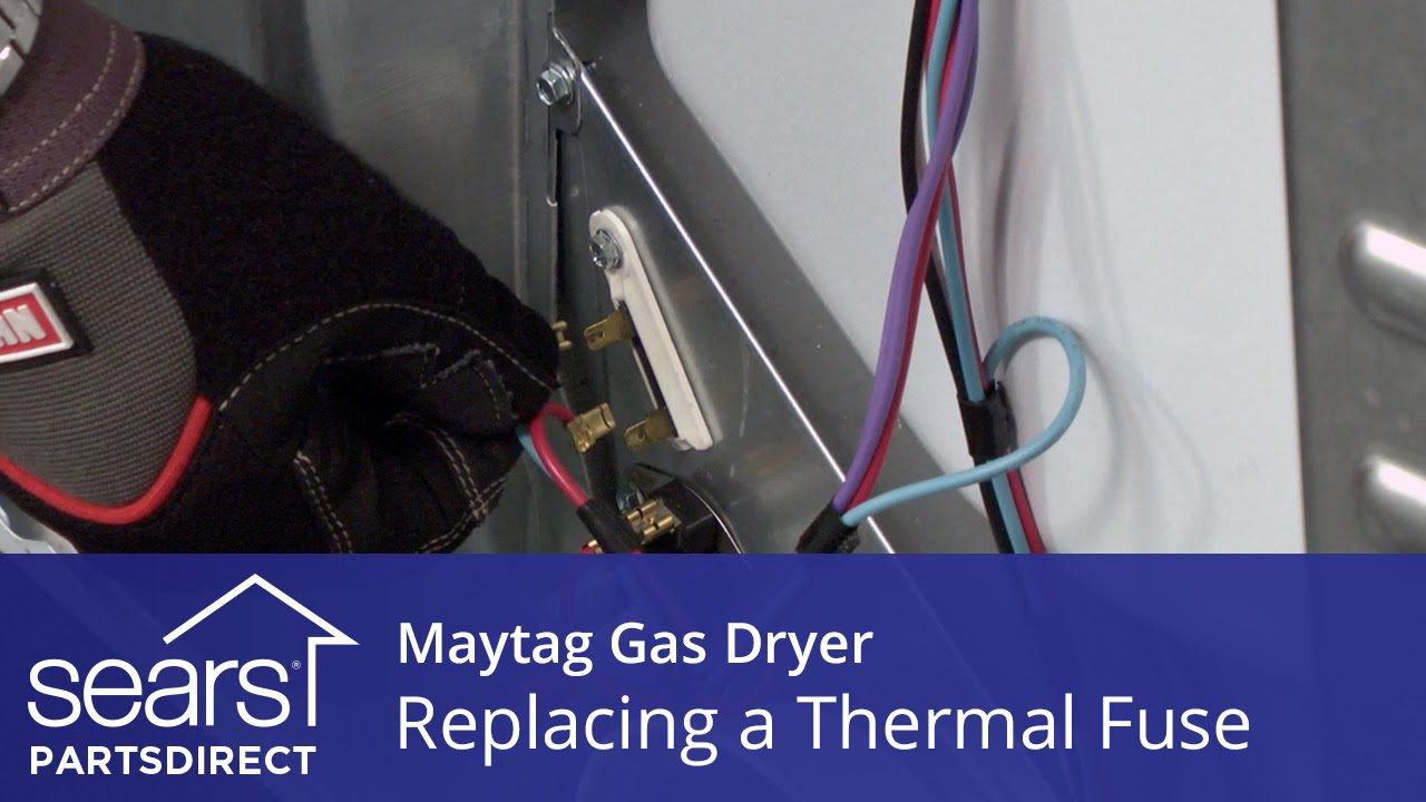 how to replace a maytag gas dryer thermal fuse [ 1280 x 720 Pixel ]