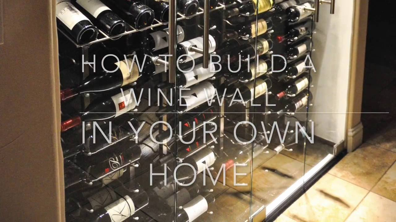 DIY Wine Wall Wine Cellar Wine Shrine  YouTube