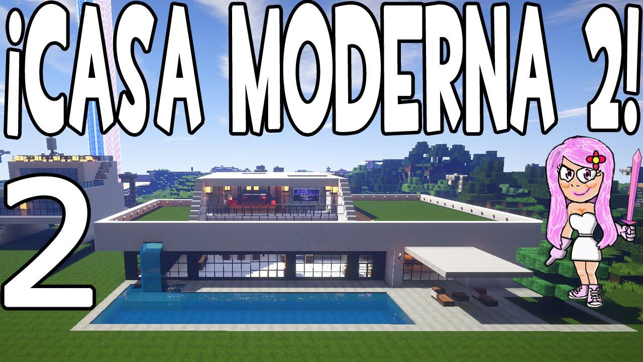 Casa moderna 2 en minecraft parte 2 c mo hacer y for Casa moderna y automatica en minecraft