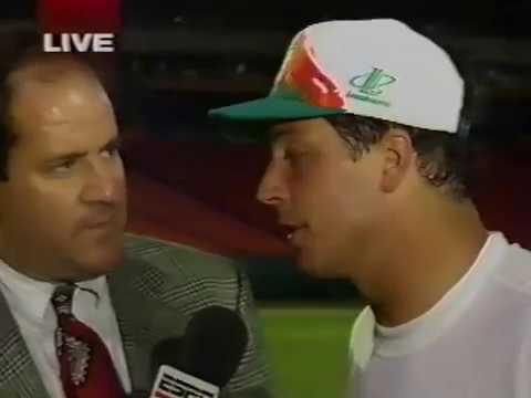 1995 Wk 15 Postgame: Dan Marino and Irving Fryar with Chris Berman
