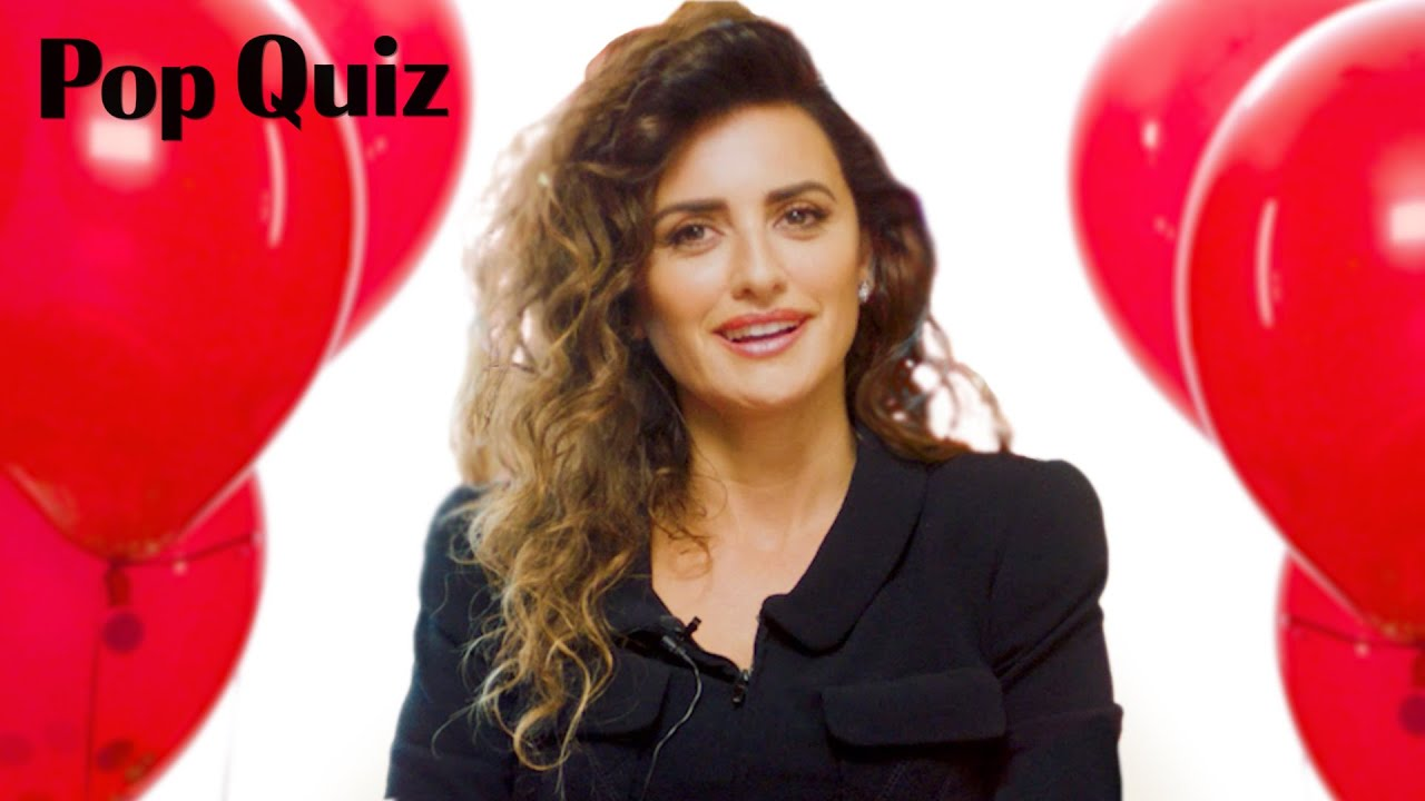 Penélope Cruz Plays a Game of Pop Quiz | Marie Claire