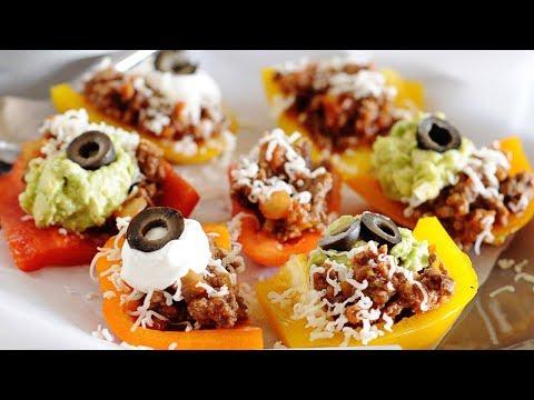 Bell Pepper Nachos | Low Carb Nachos | Keto
