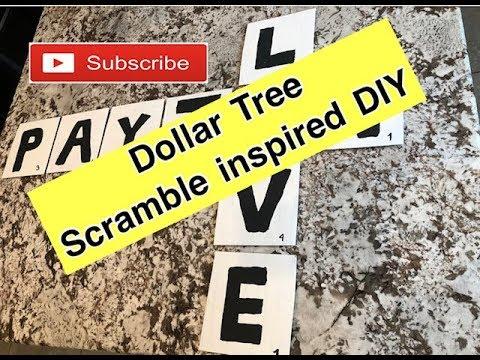 Scramble Wall Decor | Dollar Tree DIY